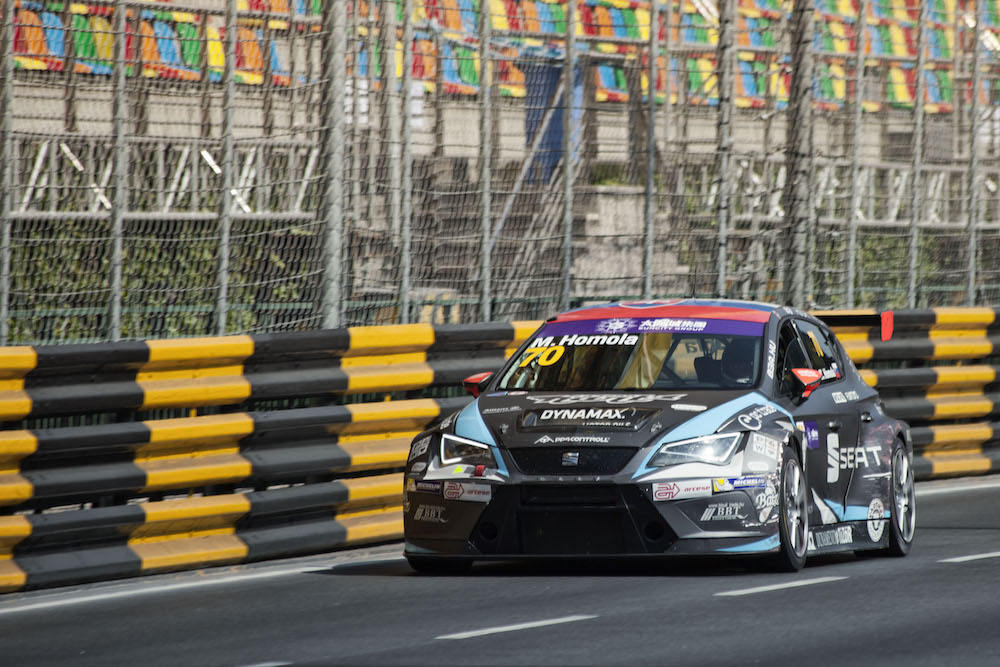 Mato Homola after the first Free practice session in Macau