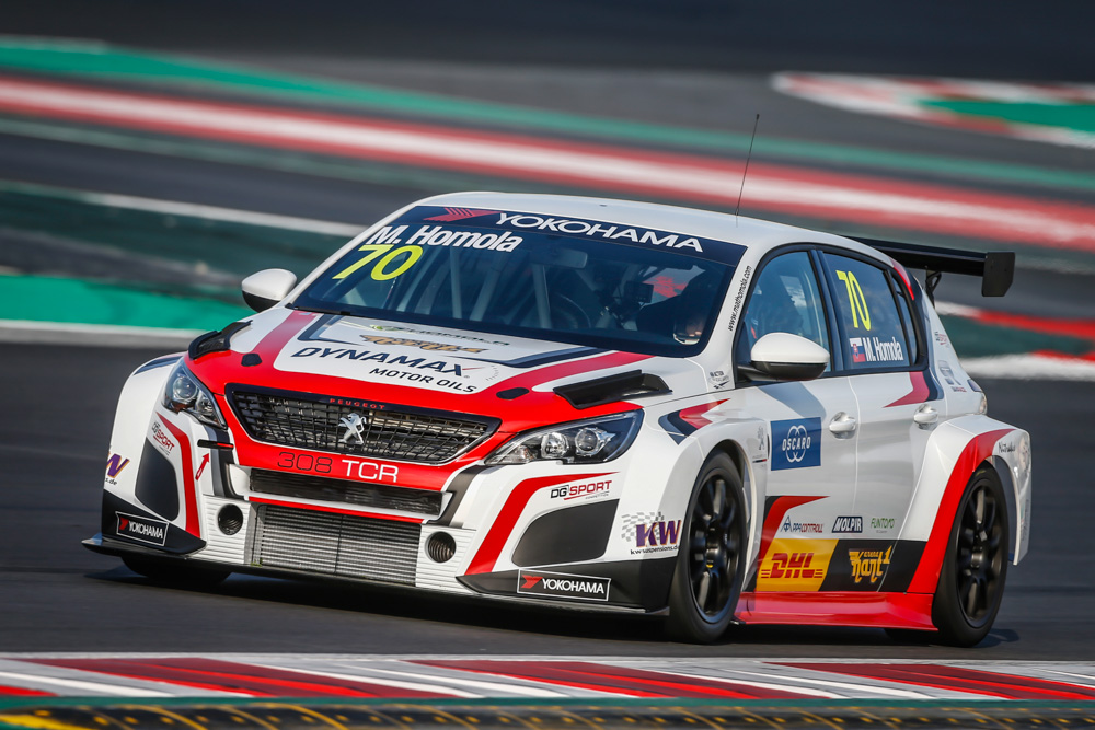 70 HOMOLA Mato (SVK), DG Sport Competition, PEUGEOT 308TCR, action during the 2018 FIA WTCR World Touring Car Tests at Barcelone, Spain, March 28 to 29 - Photo Francois Flamand / DPPI.