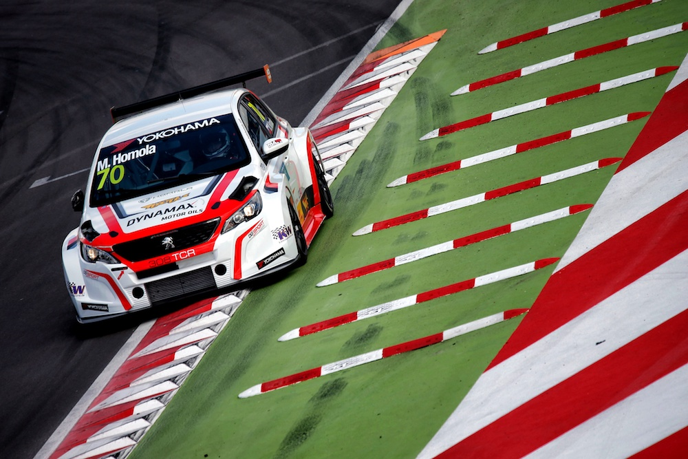 70 HOMOLA Mato (SVK), DG Sport Competition, PEUGEOT 308TCR, action during the 2018 FIA WTCR World Touring Car Cup Race of Morocco at Marrakech, from April 7 to 8th - Photo Paulo Maria / DPPI