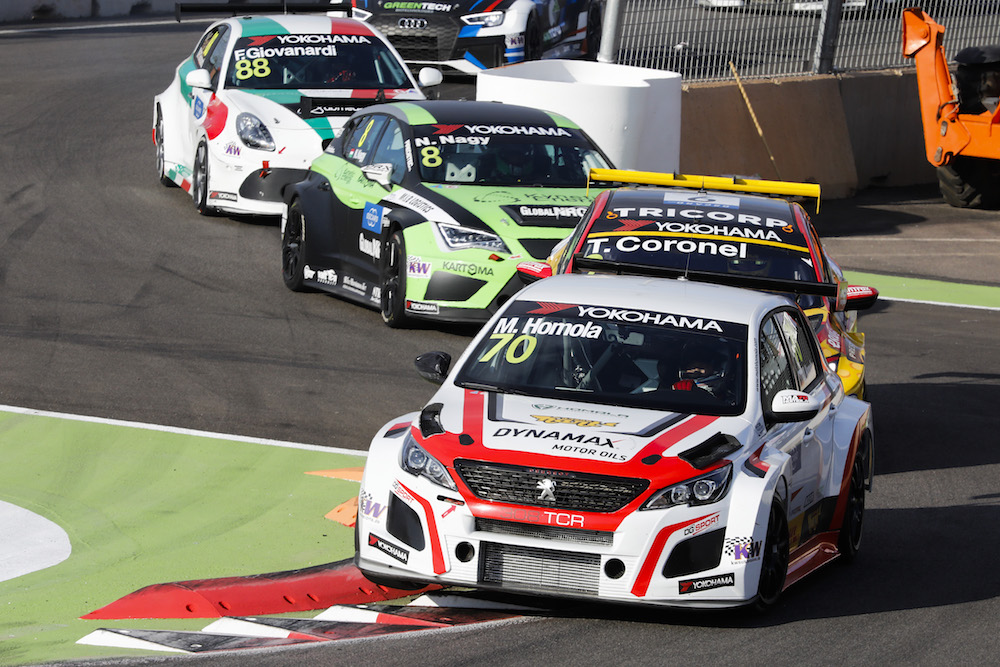 70 HOMOLA Mato (SVK), DG Sport Competition, PEUGEOT 308TCR, action during the 2018 FIA WTCR World Touring Car cup Race of Morocco at Marrakech, from April 7 to 8 - Photo Francois Flamand / DPPI