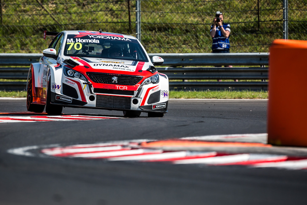 70 HOMOLA Mato (SVK), DG Sport Competition, PEUGEOT 308TCR, action during the 2018 FIA WTCR World Touring Car cup, Race of Hungary at hungaroring, Budapest from april 27 to 29 - Photo Thomas Fenetre / DPPI