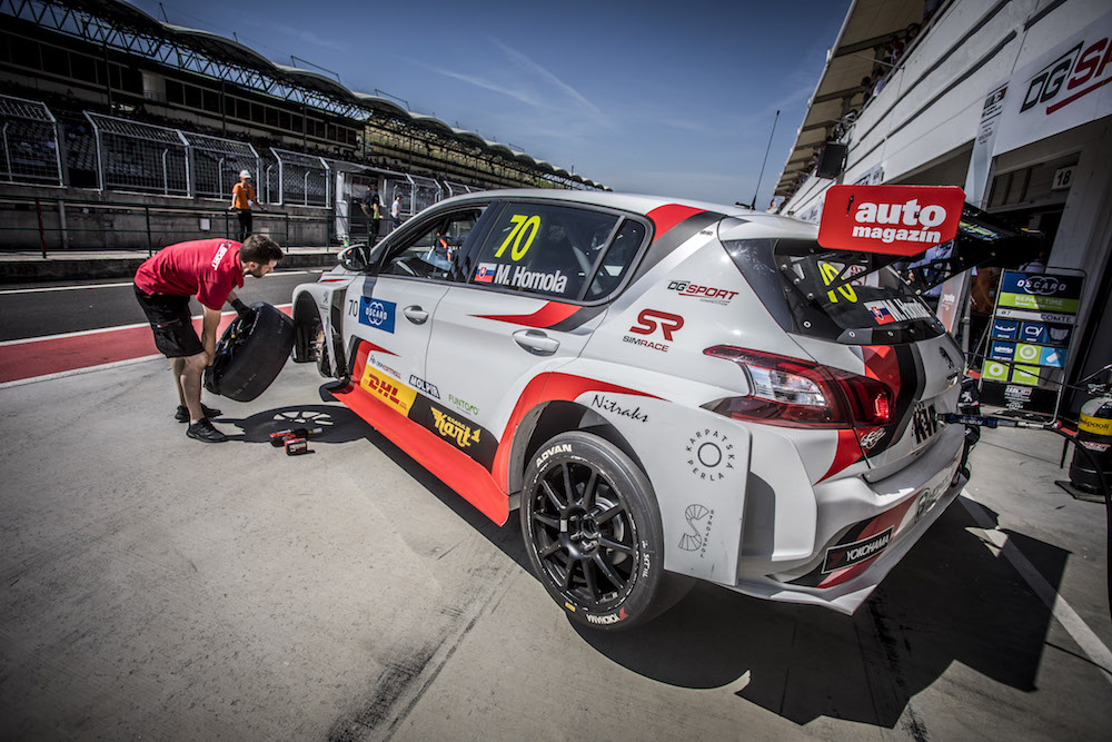 HOMOLA Mato (SVK), DG Sport Competition, PEUGEOT 308TCR, stand pit lane during the 2018 FIA WTCR World Touring Car cup, Race of Hungary at hungaroring, Budapest from april 27 to 29 - Photo Gregory Lenormand / DPPI