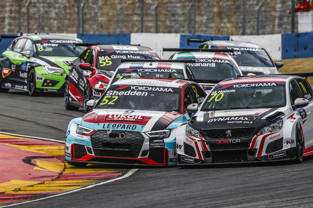 52 SHEDDEN Gordon, (gbr), Audi RS3 LMS TCR team Audi Sport Leopard Lukoil, action, 70 HOMOLA Mato, (svk), Peugeot 308 TCR team DG Sport Competition, action during the 2018 FIA WTCR World Touring Car cup of China, at Ningbo from September 28 to 30 - Photo Jean Michel Le Meur / DPPI