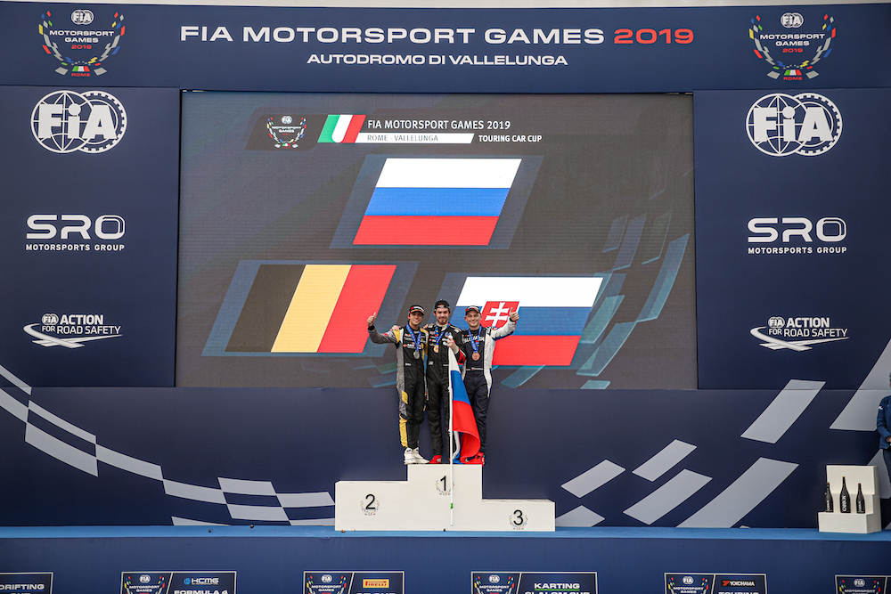 Mato Homola with a bronze medal for Slovakia on FIA Motorsport Games 2019 Rome!