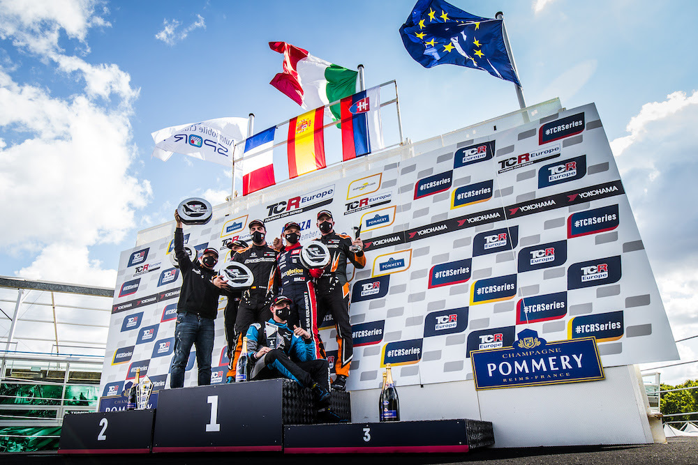 Mato Homola on the podium again! P3 in the race 2 in Monza